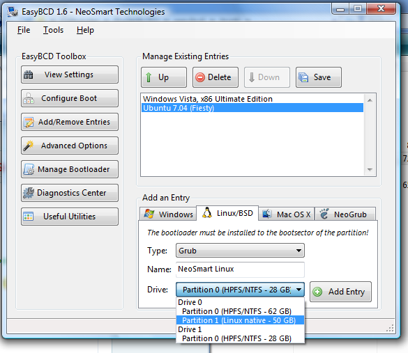 Adding Linux